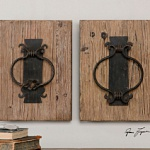 Настенный декор Rustic Door Knockers, Uttermost
